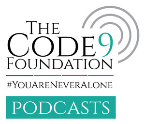 code 9 foundation ptsd podcasts logo